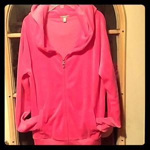 JUICY COUTURE SIZE LARGE PINK HOODIE